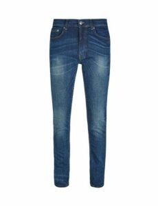 Mens Mid Blue Tyler Skinny Fit Jeans, Blue