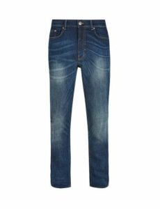 Mens Mid Blue Jude Bootcut Fit Jeans, Blue