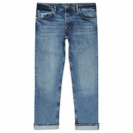 Mens River Island Pepe Jeans Blue relaxed Callen jeans