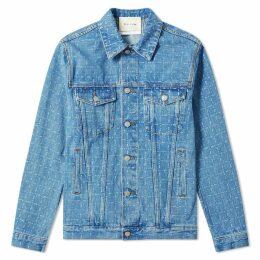 1017 ALYX 9SM Logo Check Denim Jacket Blue