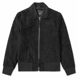 MKI Thick Suede Bomber Jacket Black