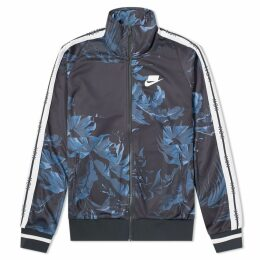 Nike NSW Floral Track Jacket Black, Obsidian & White