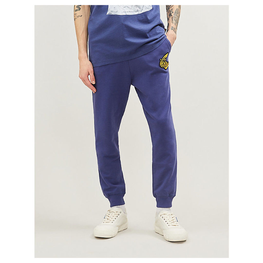 Orb logo-embroidered cotton-jersey jogging bottoms