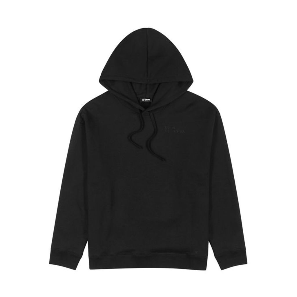 Raf Simons Black Printed Cotton Sweatshirt