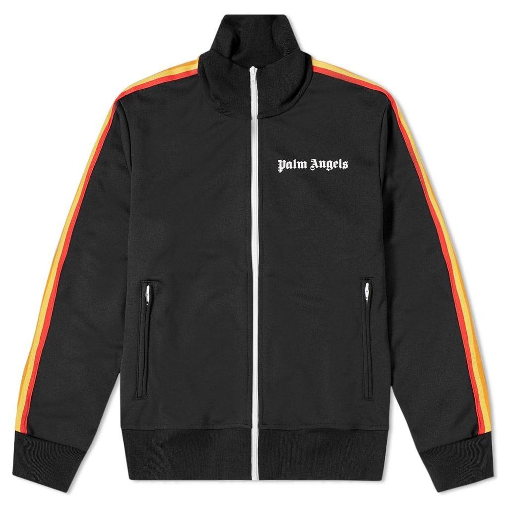 Palm Angels Rainbow Track Jacket Black & Multi