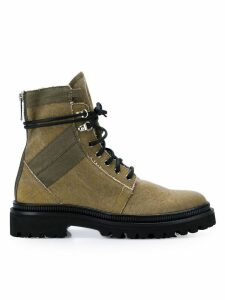 Balmain lace-up boots - Green