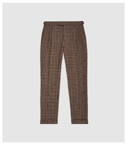 Reiss Jig - Check Trousers in Brown, Mens, Size 38