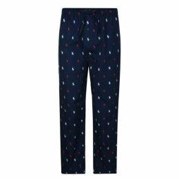 Polo Ralph Lauren Bodywear All Over Logo Cotton Pyjama Bottoms