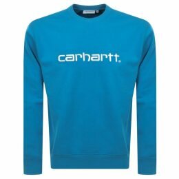 Carhartt Logo Sweatshirt Blue