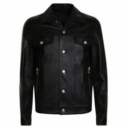 Balmain Signature Leather Jacket