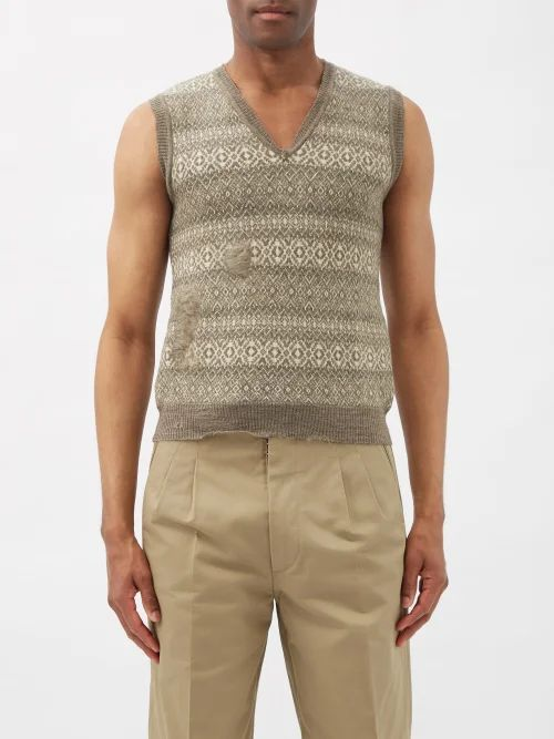 The Gigi - Waikiki Pinstripe Cotton Blend Trousers - Mens - Beige