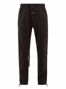 Fear Of God - Cotton Jersey Drawstring Track Pants - Mens - Black
