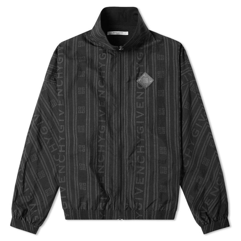 Givenchy Jacquard Logo Track Jacket Black
