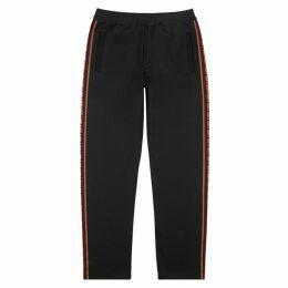 Fendi Black Logo Jersey Sweatpants