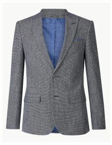 M&S Collection Cotton Rich Slim Fit Jacket