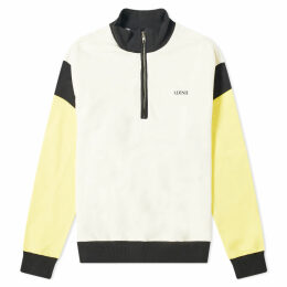 ADISH Quarter Zip Logo Sweat Off White, Yellow & Black