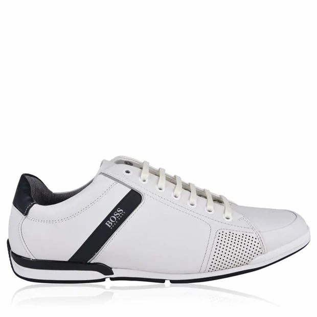 BOSS SMART CASUAL Saturn Leather Low Top Trainers