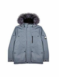Mens Hiit Grey Hooded Tickhill Arctic Puffer Jacket, Grey