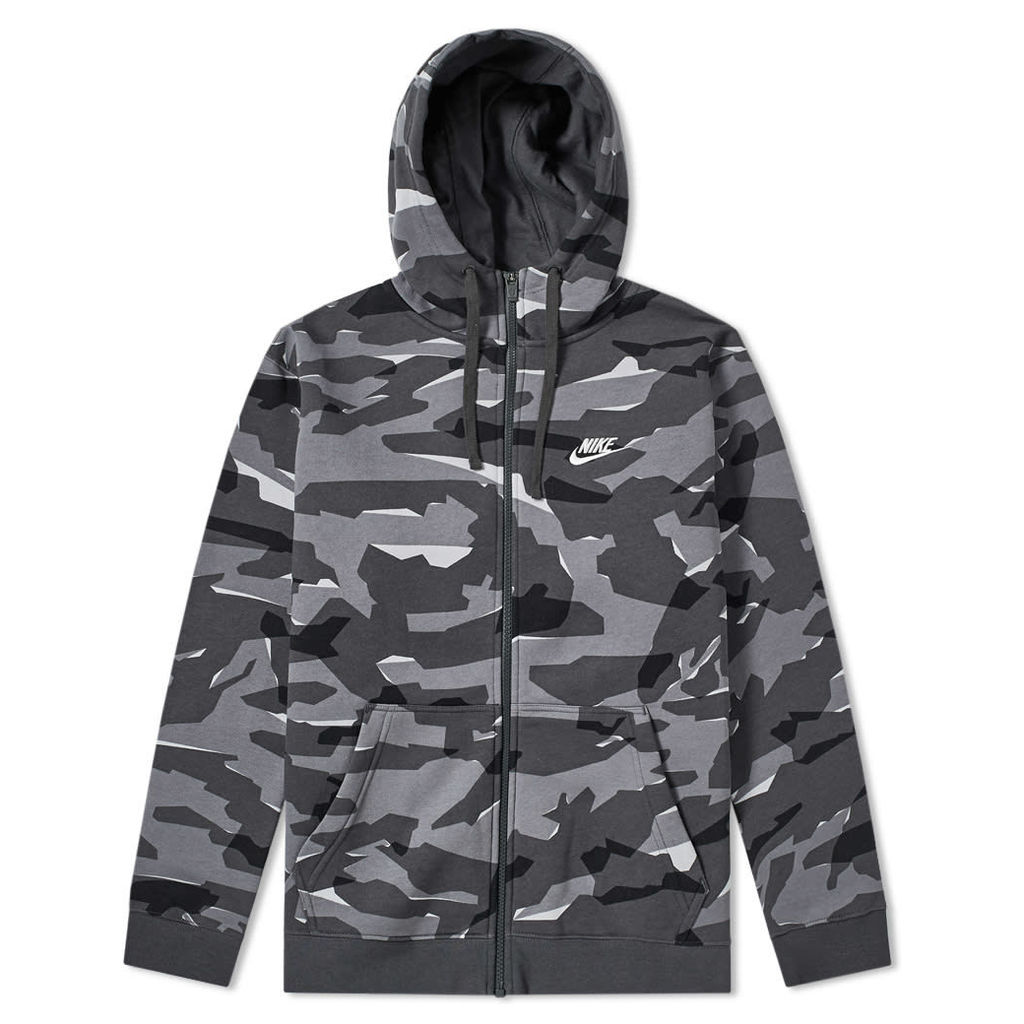 Nike NSW Camo Club Hoody Grey, Anthracite & White