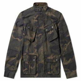 Barbour International Washed Camo Jacket Camo