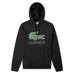 Lacoste Big Croc Logo Popover Hoody Black