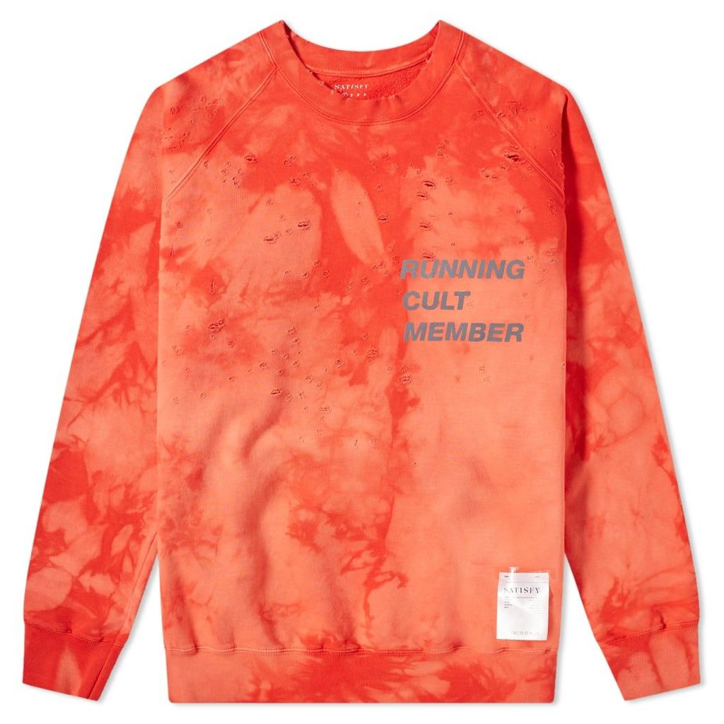 Satisfy Cult Moth Eaten Crew Sweat Bleach Red