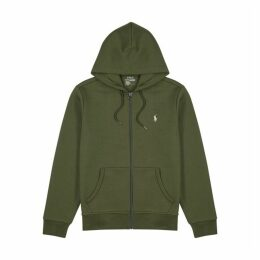 Polo Ralph Lauren Army Green Hooded Jersey Sweatshirt