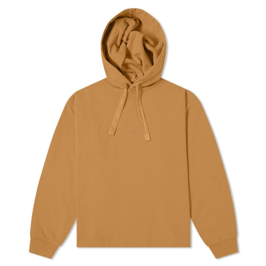 Acne Studios Fagen Stamp Hoody Antique Brown