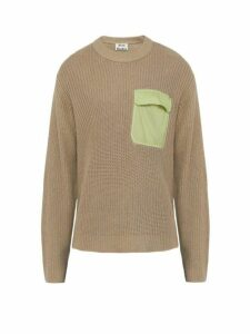 Acne Studios - Pocket Cotton And Linen Blend Sweater - Mens - Light Grey