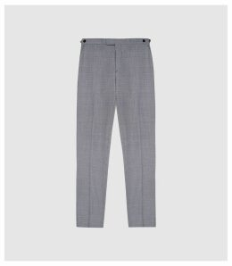 Reiss Wangle - Puppytooth Checked Trousers in Blue/white, Mens, Size 38