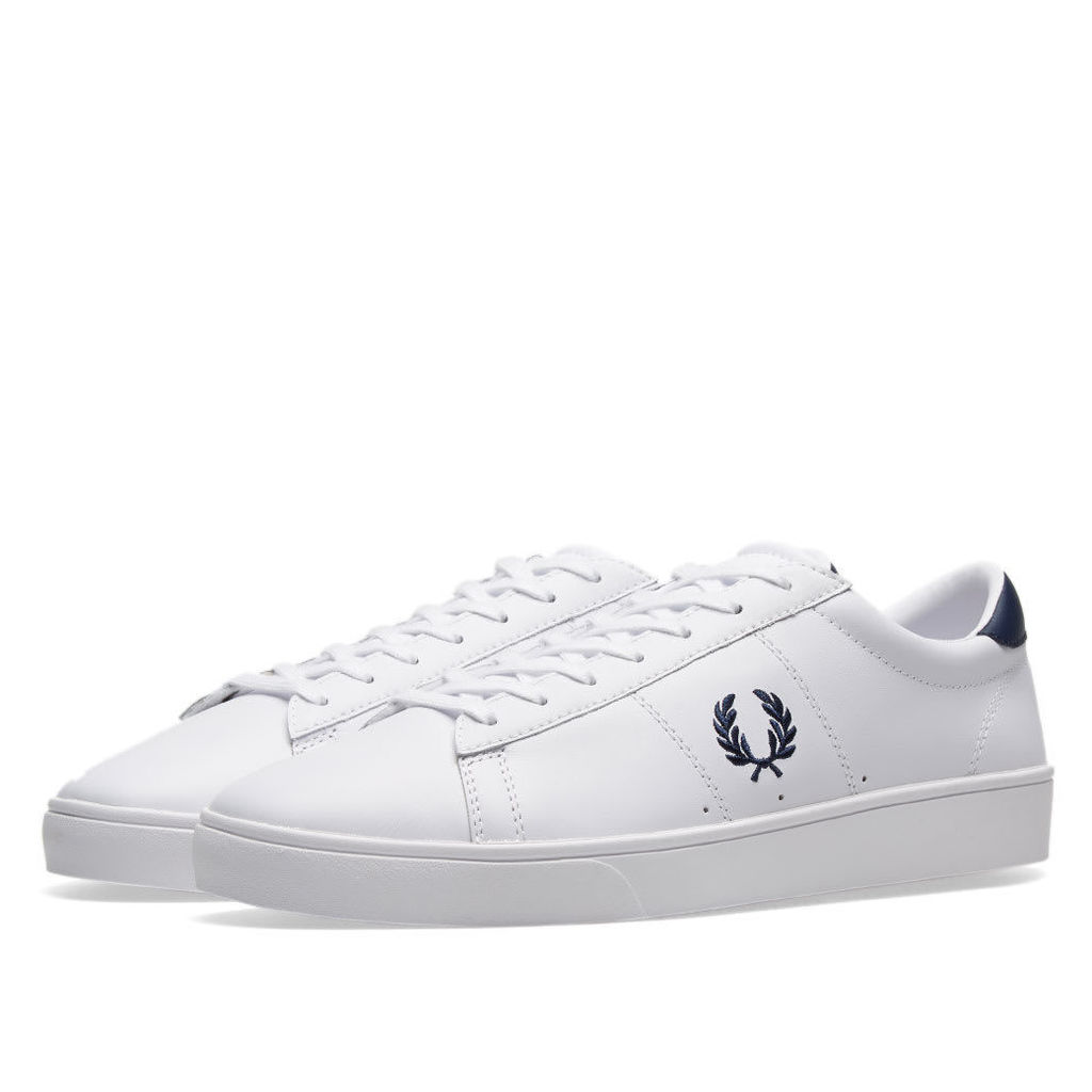 Fred Perry Spencer Leather Sneaker White & Carbon Blue