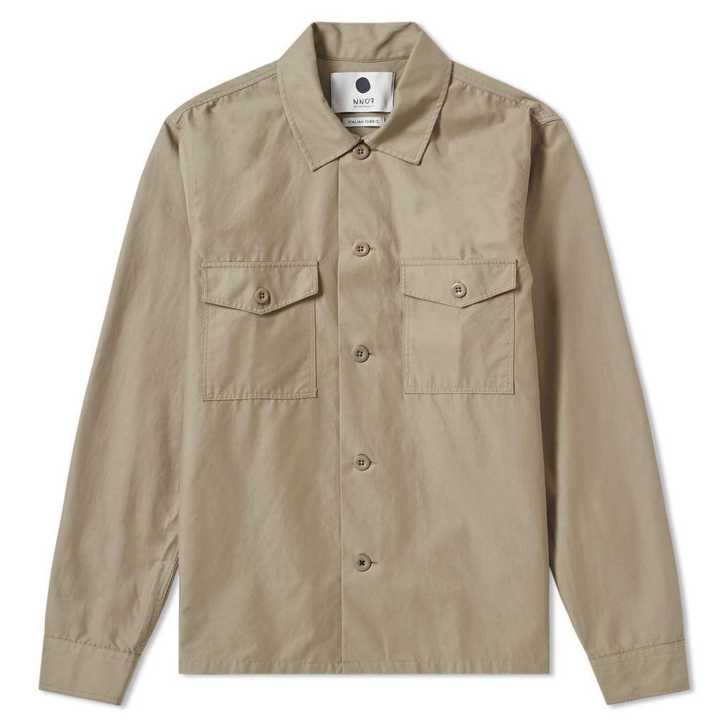 NN07 Pete Shirt Jacket Rock Khaki