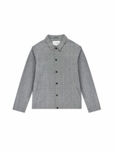 Mens Fōr Malmo Grey Prince Of Wales Check Jacket*, Grey
