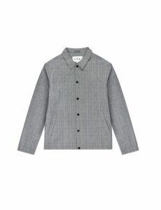 Mens Fōr Malmo Grey Prince Of Wales Check Jacket*, Grey