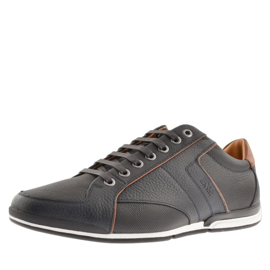 BOSS Casual Saturn Lowp Trainers Navy