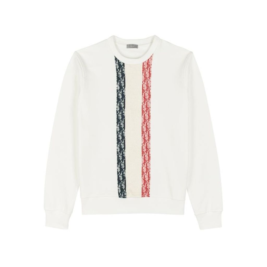 Dior Homme White Printed Cotton Sweatshirt
