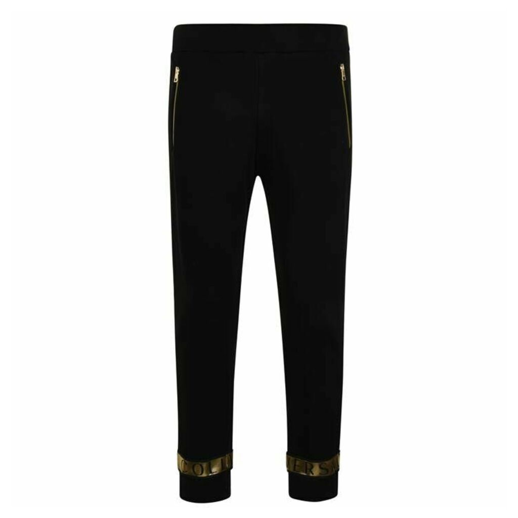 VERSACE COLLECTION Cuff Logo Jogging Bottoms