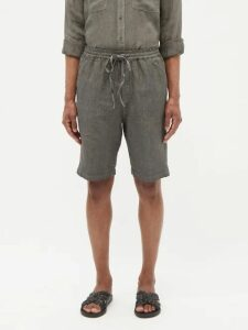 Maison Kitsuné - Limone Patch Cotton Blend Jersey Sweatshirt - Mens - Light Grey