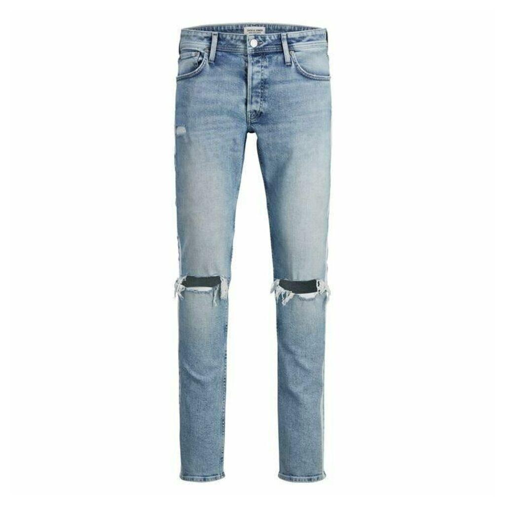 Jack and Jones Skinny Ripped Stripe Jeans Mens
