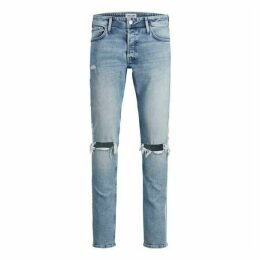 Jack and Jones Skinny Ripped Stripe Jeans Mens