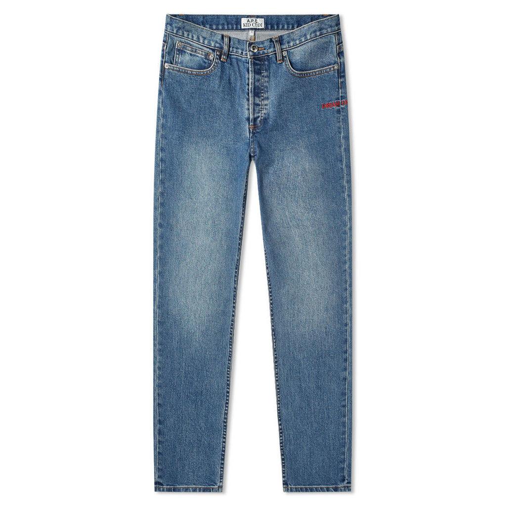 A.P.C. x Kid Cudi Petit New Standard Jean Indigo Delave