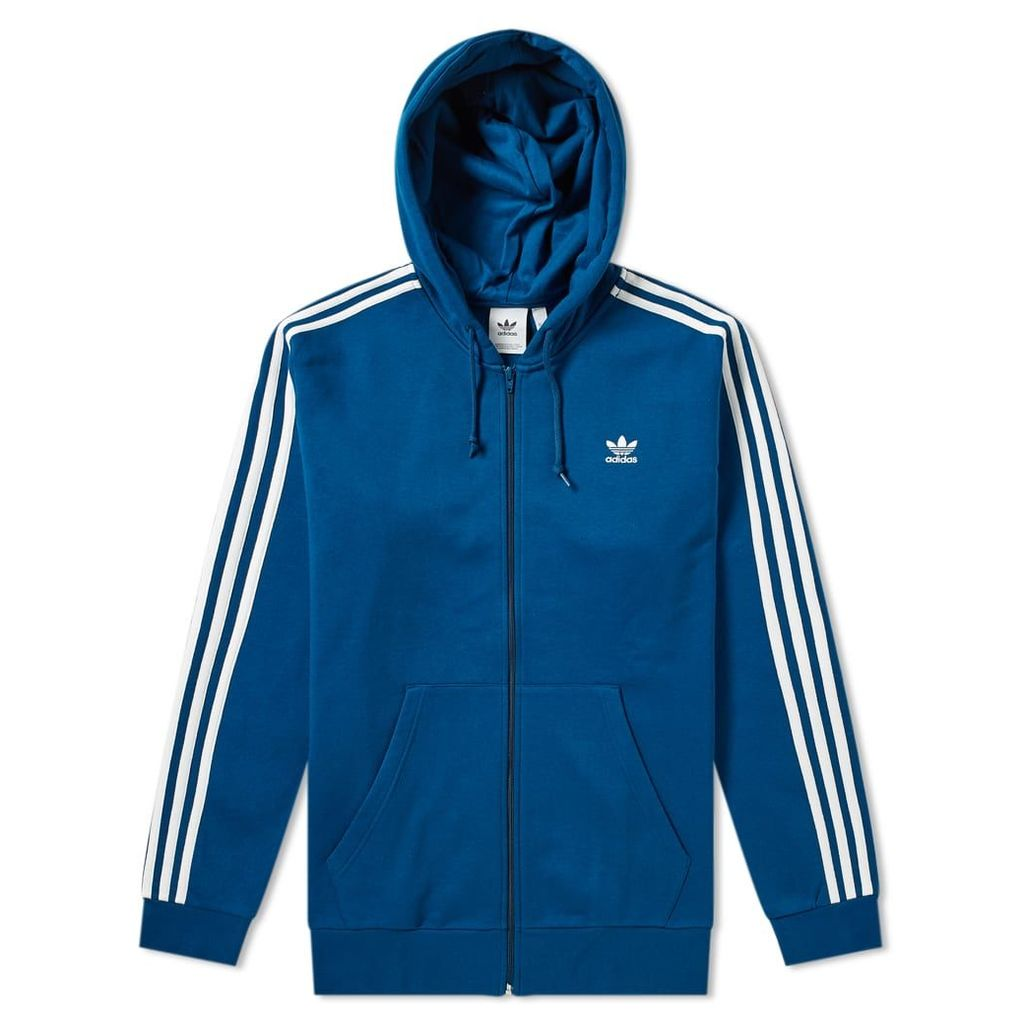 Adidas 3 Stripe Full Zip Hoody Legend Marine