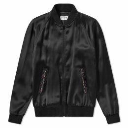 Saint Laurent Beaded Teddy Jacket Black