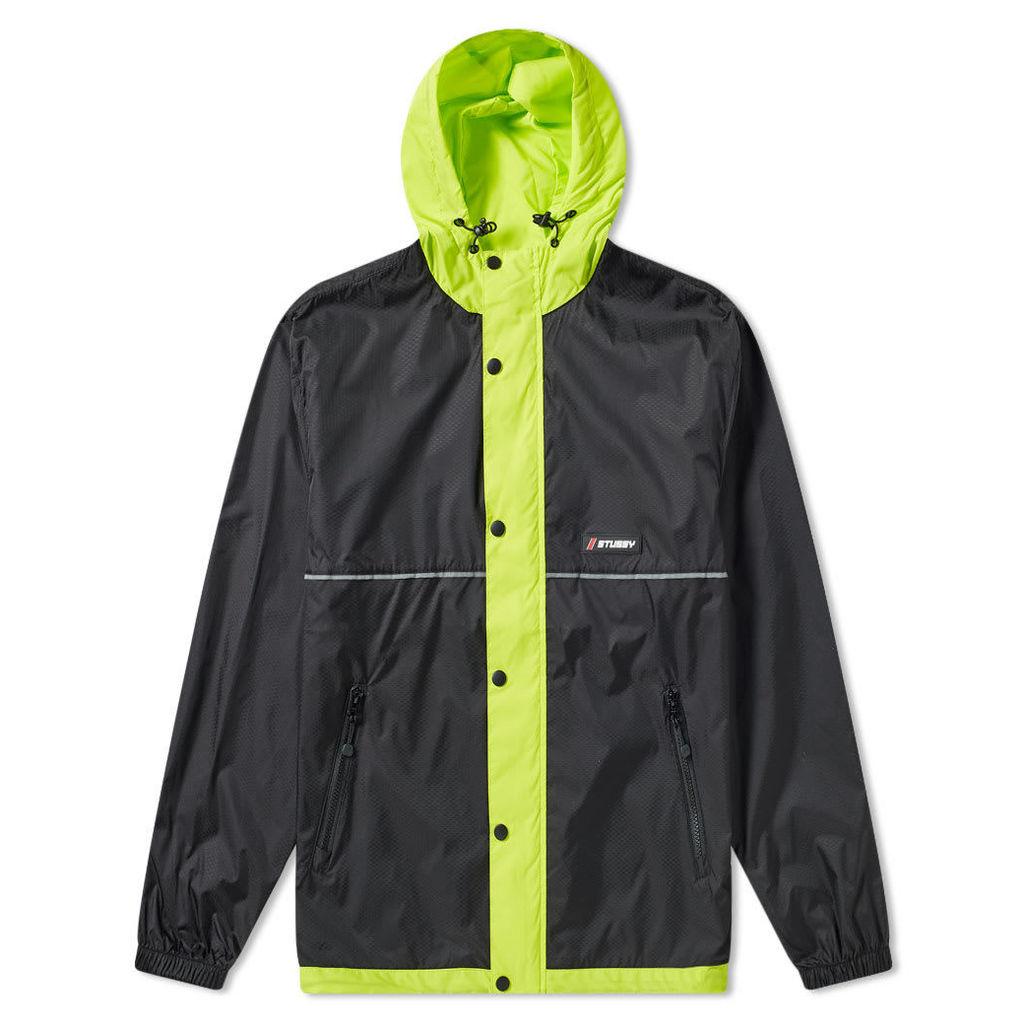 Stussy Honeycomb Hooded Jacket Black