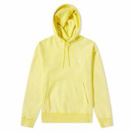 Stussy Stock Logo Hoody Yellow