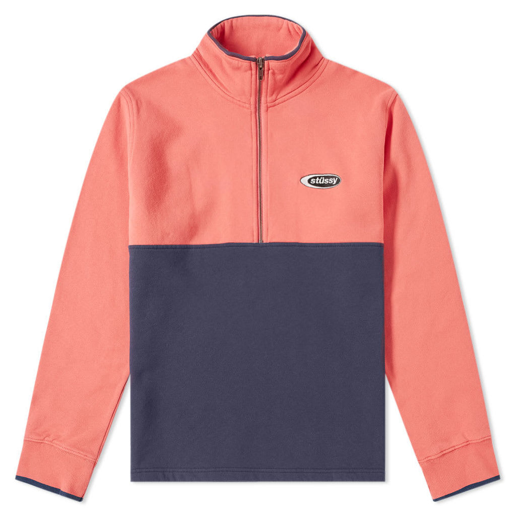 Stussy Two Tone Mock Neck Fleece Coral