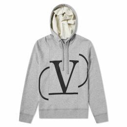 Valentino Constructed V logo Popover Hoody Grey & Black
