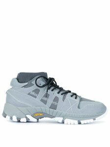 White Mountaineering contrast low-top sneakers - Grey