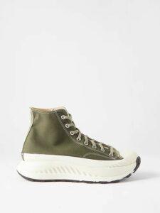 Fendi - Ff Logo Zip Through Cotton Blend Hooded Sweatshirt - Mens - Brown Multi
