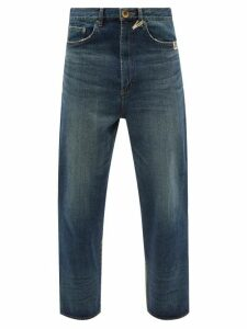 P.a.m. - Perfection Loop Sukajan Satin Track Jacket - Mens - Navy White